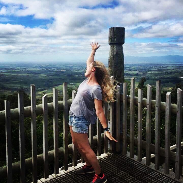 Lauretta on a hill