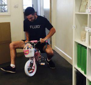 Michael on a bike