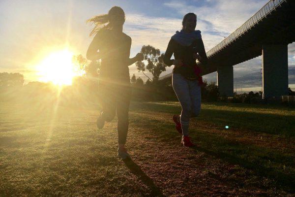 Lauretta and Regina Running